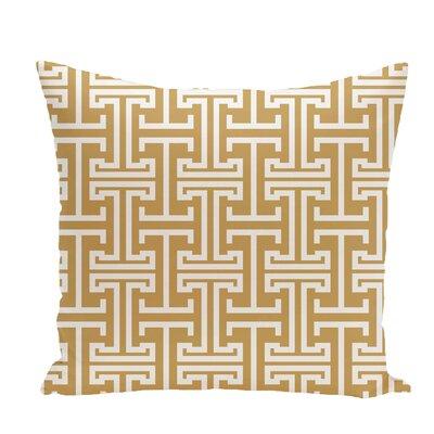 Greek Isles Geometric Print Throw Pillow Size: 26 H x 26 W x 1 D, Color: Dijon
