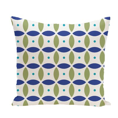 Beach Ball Geometric Print Throw Pillow Size: 16 H x 16 W x 1 D, Color: Dazzling Blue