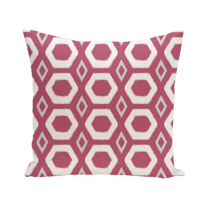 More Hugs and Kisses Geometric Print Throw Pillow Size: 26 H x 26 W x 1 D, Color: Pink Cheeks