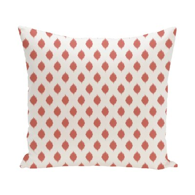 Alarice Cop-Ikat Geometric Print Throw Pillow Size: 16 H x 16 W x 1 D, Color: Seed
