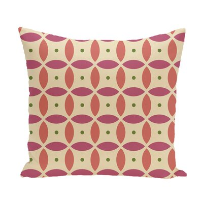Beach Ball Geometric Print Throw Pillow Size: 16 H x 16 W x 1 D, Color: Soft Lemon