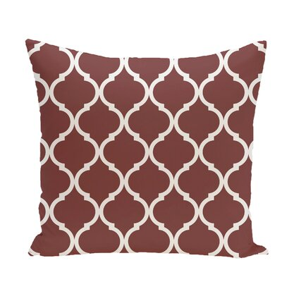 French Quarter Geometric Print Throw Pillow Size: 20 H x 20 W x 1 D, Color: Mahogany