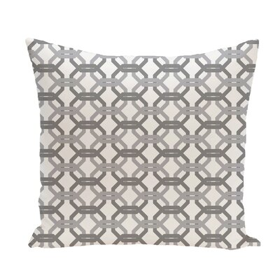 Were All Connected Geometric Print Throw Pillow Size: 18 H x 18 W x 1 D, Color: Classic Gray