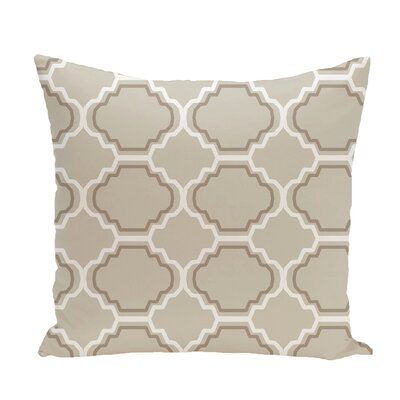 Road to Morocco Geometric Print Throw Pillow Size: 18 H x 18 W x 1 D, Color: Latte