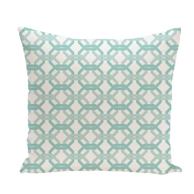 We're All Connected Geometric Print Throw Pillow Size: 18