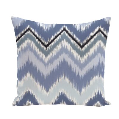 Ikat-Arina Chevron Print Throw Pillow Size: 16 H x 16 W x 1 D, Color: Cadet