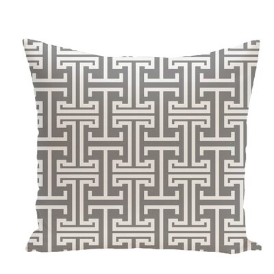 Greek Isles Geometric Print Throw Pillow Size: 18 H x 18 W x 1 D, Color: Classic Gray