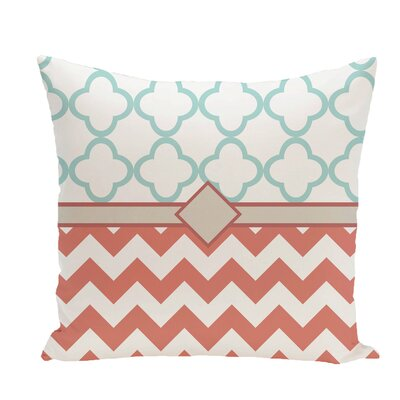 Express Line Geometric Print Throw Pillow Size: 18 H x 18 W x 1 D, Color: Seed