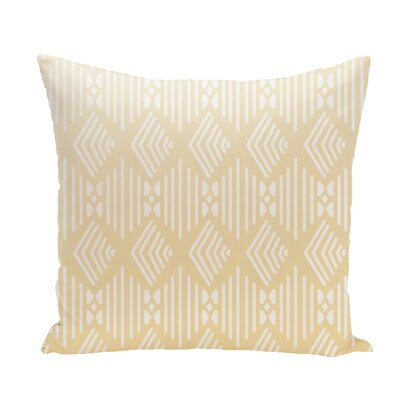 Fishbones Geometric Print Throw Pillow Size: 26 H x 26 W x 1 D, Color: Soft Lemon
