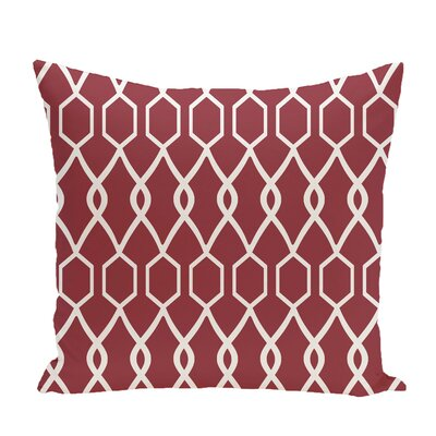 Bronstein Geometric Print Throw Pillow Size: 26 H x 26 W x 1 D, Color: Brick