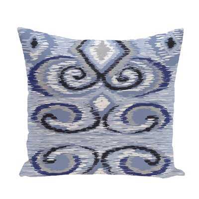 Ikats Meow Geometric Print Throw Pillow Size: 26 H x 26 W x 1 D, Color: Dust