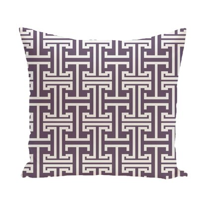 Greek Isles Geometric Print Throw Pillow Size: 16 H x 16 W x 1 D, Color: Larkspur