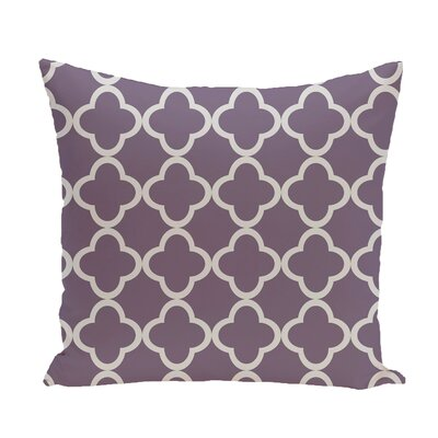 Marrakech Express Geometric Print Throw Pillow Size: 18 H x 18 W x 1 D, Color: Larkspur