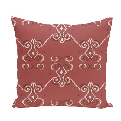 On the Line Geometric Print Throw Pillow Size: 26 H x 26 W x 1 D, Color: Burnt