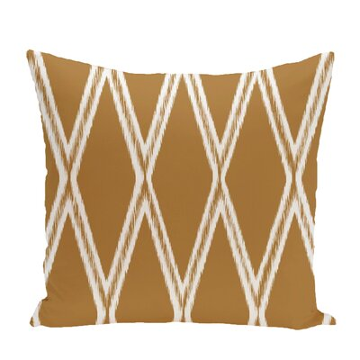Gate Keeper Geometric Print Throw Pillow Size: 26 H x 26 W x 1 D, Color: Soft Lemon