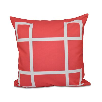 Geometric Down Throw Pillow Size: 26 H x 26 W, Color: Coral