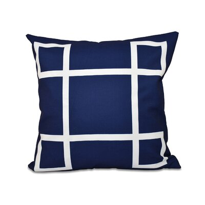 Geometric Down Throw Pillow Size: 16 H x 16 W, Color: Navy
