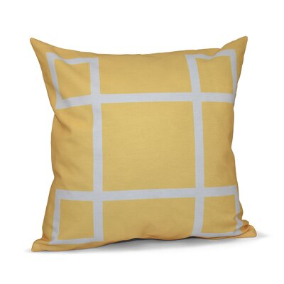 Geometric Down Throw Pillow Size: 16 H x 16 W, Color: Lemon