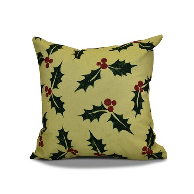 Jump for Joy Allover Holly Throw Pillow Size: 16