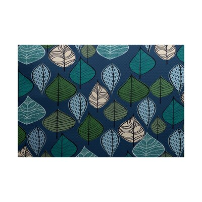 Avalos Blue Indoor/Outdoor Area Rug Rug Size: 4 x 6