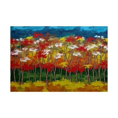 Brookfield Red Indoor/Outdoor Area Rug Rug Size: 2 x 3