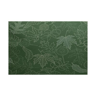 Miller Green Indoor/Outdoor Area Rug Rug Size: Rectangle 2 x 3