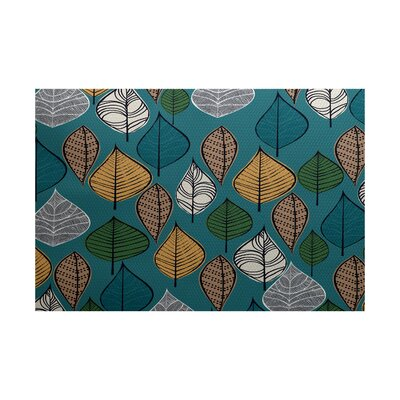 Avalos Teal Indoor/Outdoor Area Rug Rug Size: 4 x 6