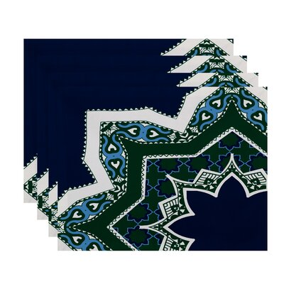 Soluri Rising Star Print Placemat Color: Navy Blue