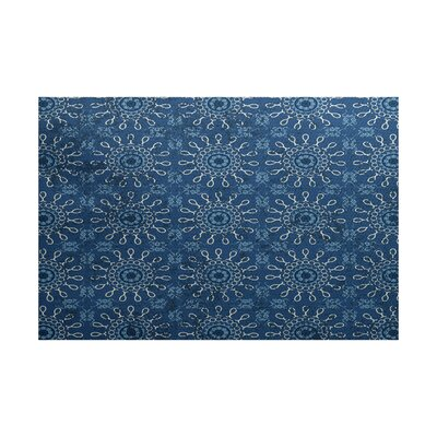 Soluri Blue Indoor/Outdoor Area Rug Rug Size: Rectangle 2 x 3