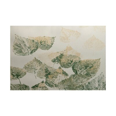 Miller Green / Beige Indoor/Outdoor Area Rug Rug Size: Rectangle 3 x 5