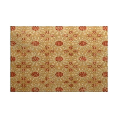 Soluri Gold / Orange Indoor/Outdoor Area Rug Rug Size: 3 x 5