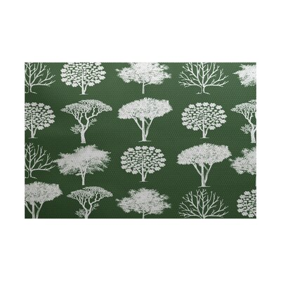 Miller Green Indoor/Outdoor Area Rug Rug Size: 4 x 6