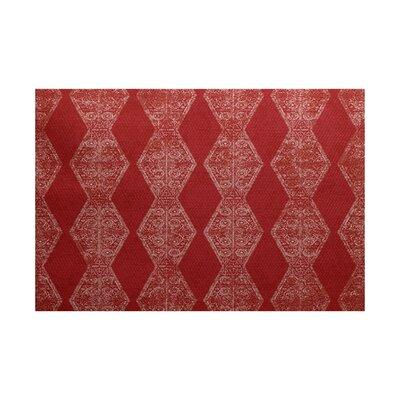 Soluri Red Indoor/Outdoor Area Rug Rug Size: 2 x 3