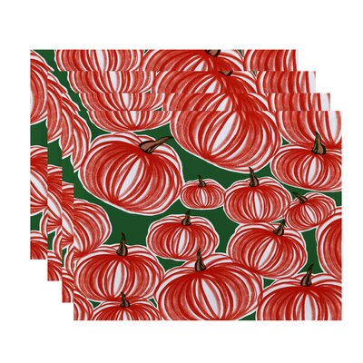 Maxson Pumpkins-A-Plenty Print Placemat Color: Green