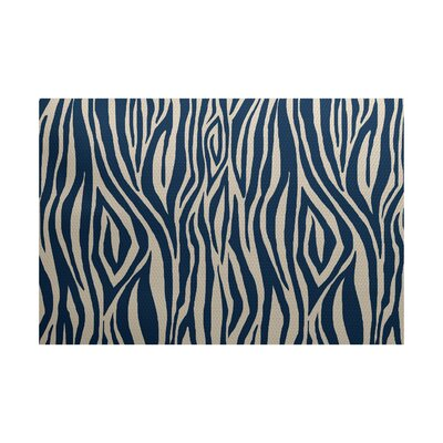 Kam Beige / Blue Indoor/Outdoor Area Rug Rug Size: Rectangle 3 x 5