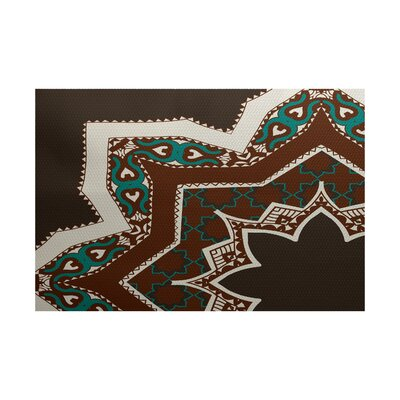 Soluri Brown / Blue Indoor/Outdoor Area Rug Rug Size: 2 x 3