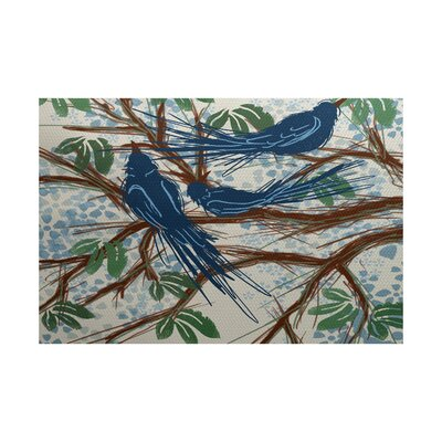 Ingaret Blue Indoor/Outdoor Area Rug Rug Size: 4 x 6