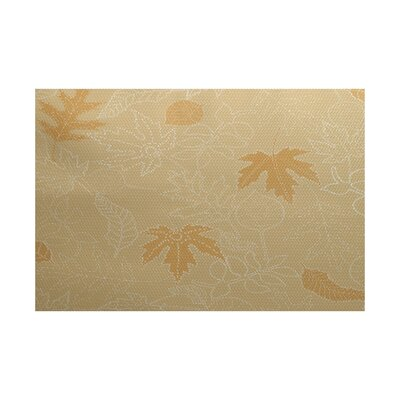 Miller Gold Indoor/Outdoor Area Rug Rug Size: 3 x 5