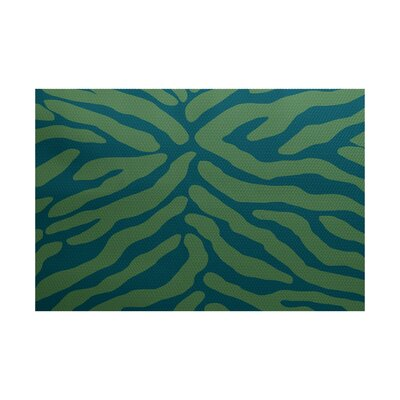 Kam Teal Indoor/Outdoor Area Rug Rug Size: 4 x 6