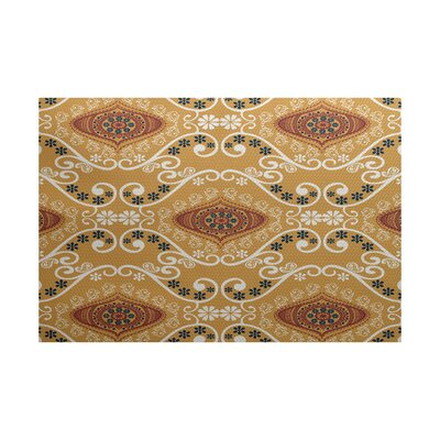 Soluri Gold Indoor/Outdoor Area Rug Rug Size: 3 x 5