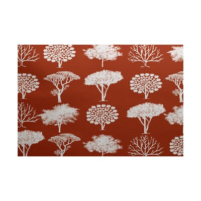 Ingaret Rust Indoor/Outdoor Area Rug Rug Size: 2' x 3'