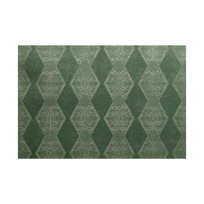Soluri Green Indoor/Outdoor Area Rug Rug Size: 2' x 3'