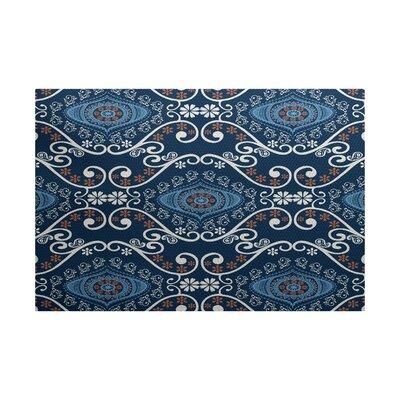 Soluri Navy Blue Indoor/Outdoor Area Rug Rug Size: 2 x 3