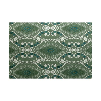 Soluri Green Indoor/Outdoor Area Rug Rug Size: 3 x 5