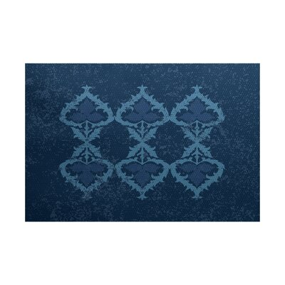 Soluri Navy Blue Indoor/Outdoor Area Rug Rug Size: 3 x 5