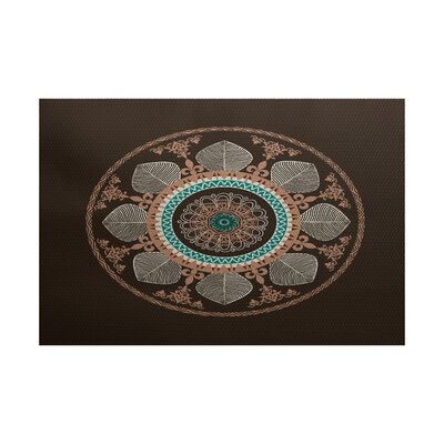 Soluri Brown Indoor/Outdoor Area Rug Rug Size: 3 x 5