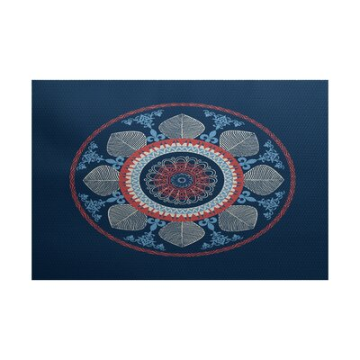 Soluri Navy Blue Indoor/Outdoor Area Rug Rug Size: 2 x 3