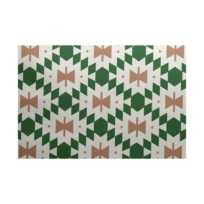 Soluri Green / Beige Indoor/Outdoor Area Rug Rug Size: Rectangle 3 x 5
