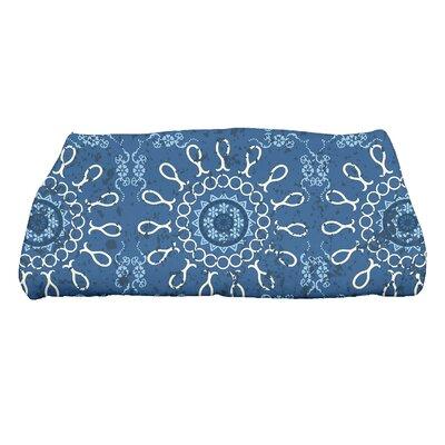 HH Revival Sun Tile Geometric Print Bath Towel Color: Blue