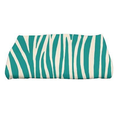 Flora and Fauna Wood Geometric Print Bath Towel Color: Jade